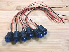 6 BBT 12 volt Blue LED 12mm Indicator Lights