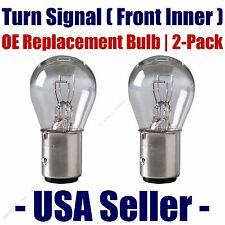 Front Inner Turn Signal Light Bulb 2pk - Fits Listed Land Rover Vehicles 7528