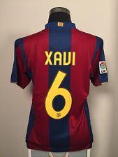 Xavi #6 Barcelona Hogar Camiseta De Fútbol Jersey 2007/08 (M)