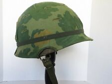 Vnm era U.S. M1 Helmet With Mitchell Cover, Complete   Od buckles