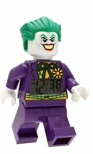 "DC Comics Lego JOKER 10"" Mini figure Alarm Clock TOO COOL! Batman Justice"
