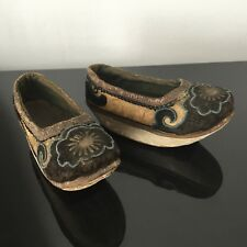 Antique Chinese Foot Binding Shoes Original Last 19thC Chaussures Chinoises XIXè
