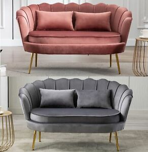 Sofa Samt-Loveseat-Sofa Doppelcouch 2-Sitzer-Sofa Loveseat Wohnzimmer Modernes