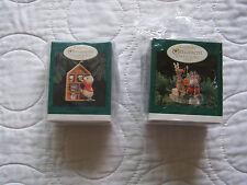 1995 Hallmark Keepsake Ornament Collectors Club Membership Kit 2 ornaments