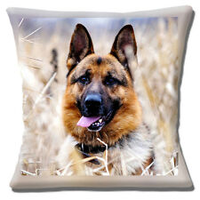 perro de pastor alemán Funda cojín 40.6x40.6cm 40cm Foto estampada Campo SETTING