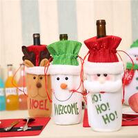 Hot Christmas Santa Wine Bottle Gift Bag Ornaments Cover Xmas Home Party Decor
