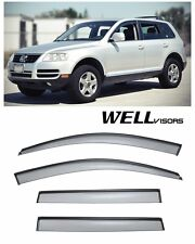 For 03-10 Volkswagen Touareg WellVisors Side Vent Window Visors W/ Black Trim