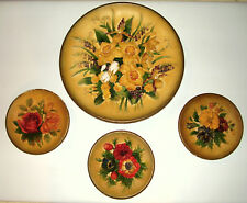 "Vintage W.H. Bossons Chalkware Floral Wall Plaques Set of 4 ""RARE"""