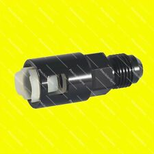 "AN6 Male to 3/8"" Female Push On Quick Connect Fitting Adapter - Black"