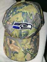SEATTLE SEAHAWKS Camouflage Embroidered Hat Cap NFL Football Adjustable Size
