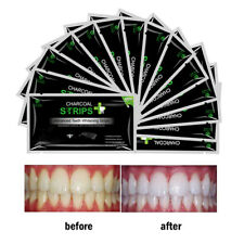 28pc FDA EZGO Activated Organic Charcoal Teeth Whitening Strips Whitestrips