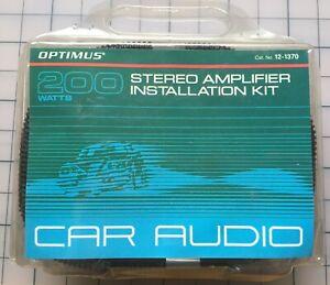 Optimus 12-1370 Car Audio Amplifier Install Wiring Kit 200W RCA Power Fuse NEW