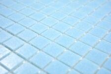 Mosaïque carreau verre bleu claire sol mur mirroir tuiles 200-A11-N_b | 1 plaque