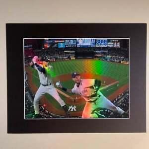 "Derek Jeter New York Yankees MLB Holographic 11"" x 14"" Photo Matted"