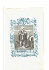 1852 Grabado, San Alejandro Obispo Alessandro