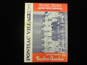 March 22, 1960 Playoffs Game #5 Philadelphia Warriors @ Boston Celtics Program