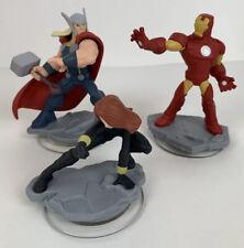 Lot Of (3) Disney Infinity 2.0 Marvel Figures-Iron Man- Thor- Black Widow
