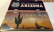 Arizona Novelty Licence Plates (U Of A and Desert)