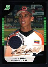 WILLIAM BERGOLLA 2005 BOWMAN DRAFT RC ROOKIE FUTURES GAME RELIC JERSEY SP $15