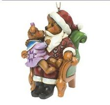 Boyds Jim Shore Santa With Holly Hanging Holiday Christmas Ornament Enesco