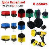 3pcs Power Scrubber Drill Brush Set Cleaner Tire Spin Tub Shower Tile Grout Wall