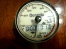 Oceanic 200' Depth Gauge with Computer Bottom Timer in Excellent Condition