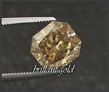 Diamant im Radiant Schliff 0,73 ct mit Zertifikat, Natürlich Champagner / VS2
