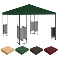 10'x10' Waterproof Gazebo Top Replacement Canopy Sunshade Patio Roof Cover