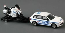 NYPD New York City Police Department Cruiser Motorcycle & Trailer 1:64 Scale New