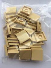 LEGO 50 x SAND/TAN FLAT TILES BRICKS 2 x 2  STAR WARS/MODULAR GENUINE/BRAND NEW