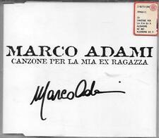 """MARCO ADAMI - RARO CDs PROMO CON AUTOGRAFO """" CANZONE PER LA MIA EX RAGAZZA """""""