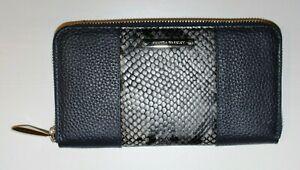 Blue Python Amanda Wakeley The Springsteen Leather Zip Around Purse, RRP = £120