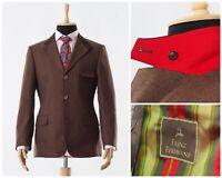 Mens FRANZ FERDINAND by HABSBURG Blazer Coat Jacket Wool Brown Size 40 M 50