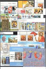 2015 Vaticano Vatikan City Año completo 29 valores + 5 Fgl 1 Folleto MNH