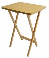Folding Wooden TV Table Fold Up Desk Side Dinner Laptop Tray Coffee Picnic Tea
