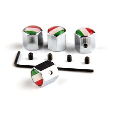 Metal Wheel Tire Valve Stem Universal Cap Italy Italian flag Emblem Key Chain