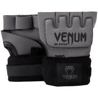 Venum Kontact Gel Wrap Adult Hand Wraps Gloves Grey Black Protection Boxing Kick