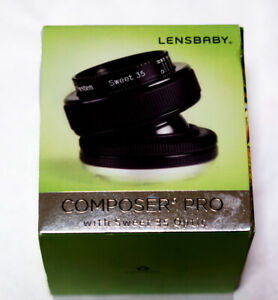 LENSBABY COMPOSER PRO with SWEET 35 OPTIC Lens For Nikon F - Mint condition