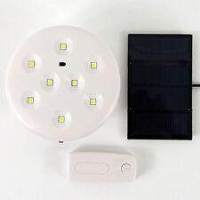 Rechargeable 8 LED Globe Camping Bulb Lantern Work Light Solar Panel
