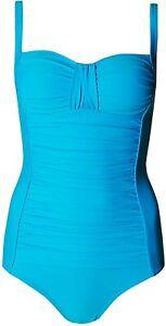 Lovely BNWT M&S Secret Slimming dark turquoise swimsuit 12