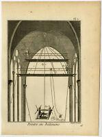 4 Antique Prints-PEINTRE BATIMENS-PAINTING-HOUSE PAINTER-Diderot-Benard-1779