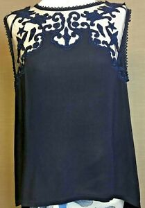 Soft flow lace inlay drop back  top