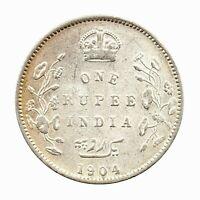 KM# 508 - One Rupee - Edward VII - British India 1904B (F)