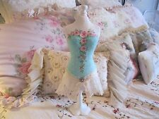 Shabby Chic Hand Painted Roses - Jewelry Dress Form