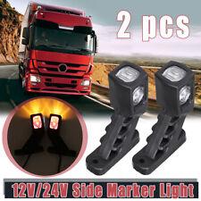 Red Amber White LED Side Marker Light Indicator Outline Lamp Trailer Truck Lorry