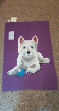 Ulster Weavers Angus Cotton Tea Towel West Highland Terrier Dog Purple