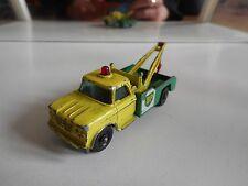 """Matchbox Lesney Dodge Wreck Truck """"BP"""" in Yellow/Green"""