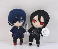 Anime Kuroshitsuji Black Butler Sebastian Michaelis Ciel Plush Toy for Xmas Gift