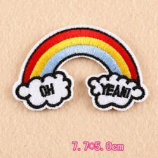 Rainbow patch, Rainbow Iron On Patch, Oh Yeah patch, funny clothes patch