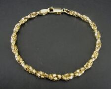 Han Circle Chain Twist Gold Vermeil over Sterling Silver 925 Italy Bracelet